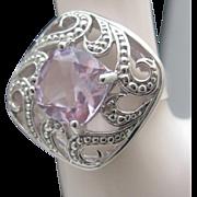 Gorgeous Sterling Rose de France Amethyst Ring 10