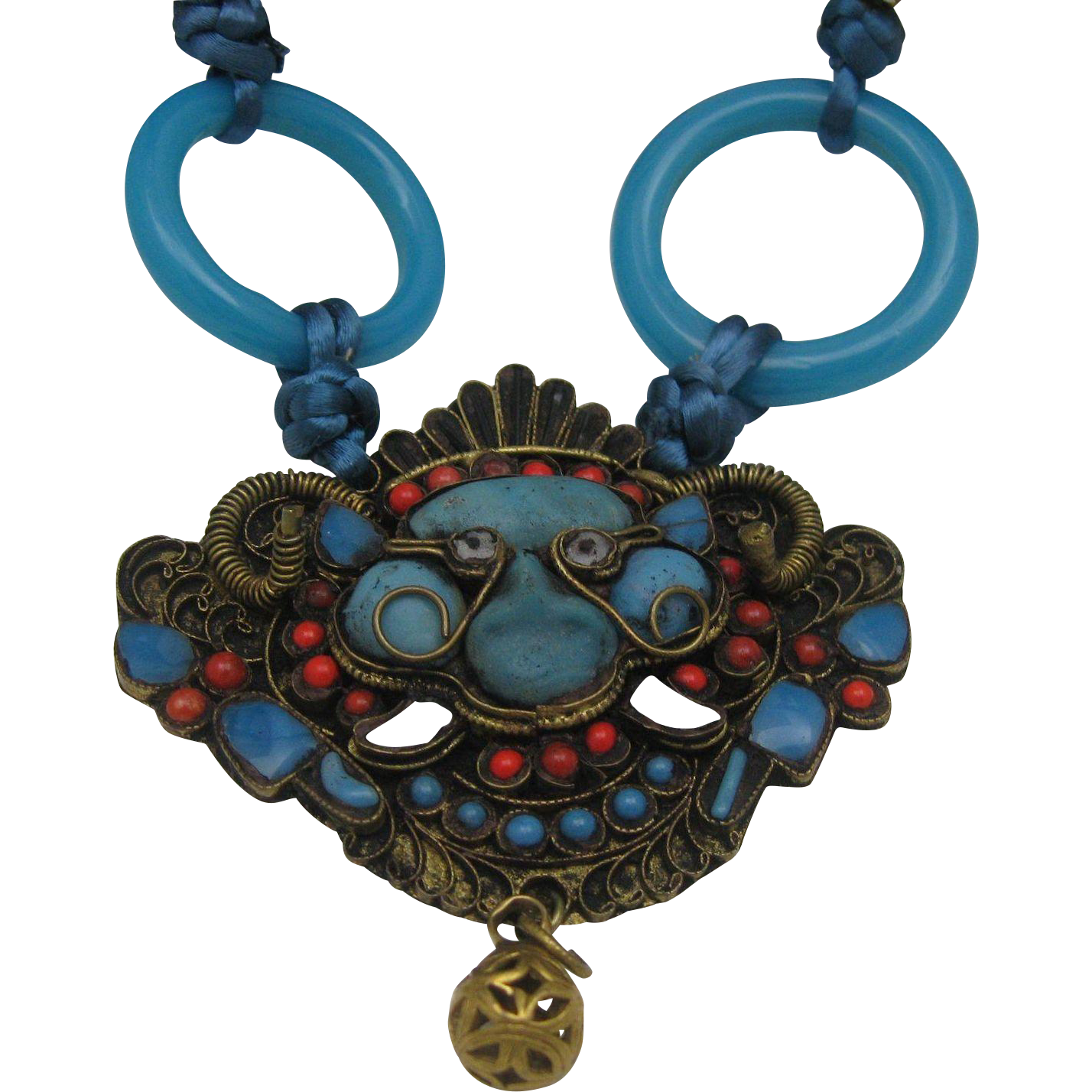 Tibetan Buddhist Turquoise Coral Necklace