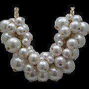 Champagne Bubbles Faux Pearl Necklace