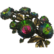 Weiss Watermelon Rivoli Branch Brooch