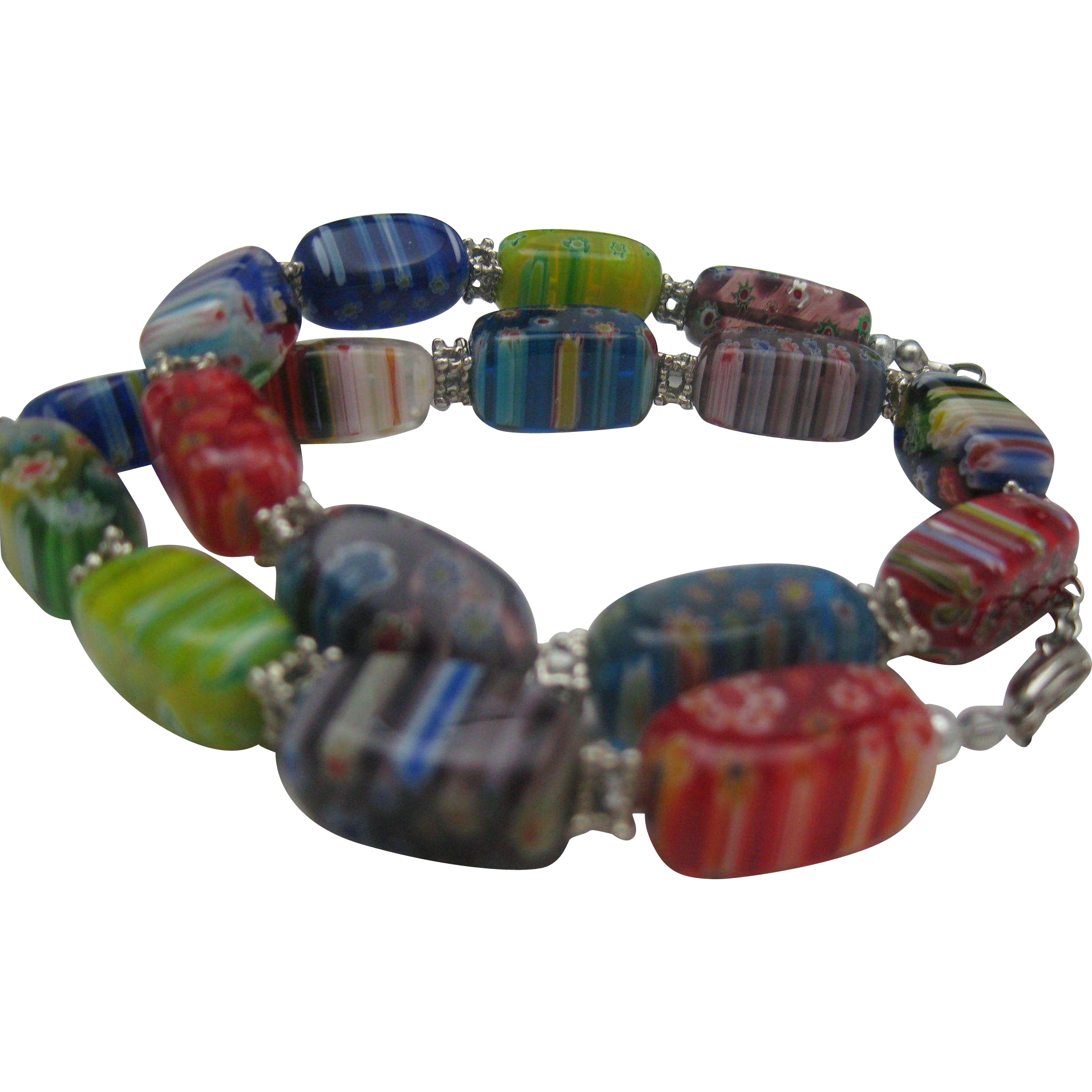 Unusual Millefiori Trade bead Necklace