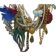 Iris Apfel Style Multi Strand Charm Necklace