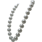 Chunky Huge Faux Pearl Necklace 1960