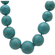 Cracked Genuine Turquoise Necklace 23 inches