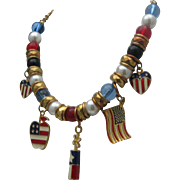 Kitschy Patriotic Necklace USA