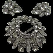 Signed Sherman Domed Brooch Earrings Set