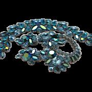 Unmarked Sherman Sapphire Bracelet Brooch Earrings