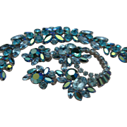 Sherman Sapphire Bracelet Brooch Earrings