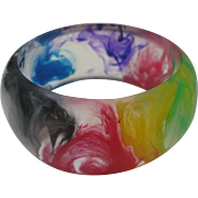End of Day Celluloid Swirl bangle 1950