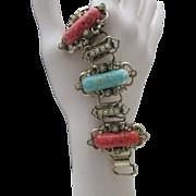 Mid Century Book Chain Bracelet
