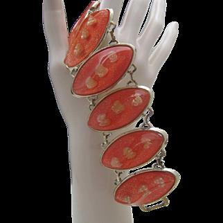 Mid Century Plastic Bracelet Book Piece