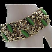 Green Mid Century Themoplastic Bracelet