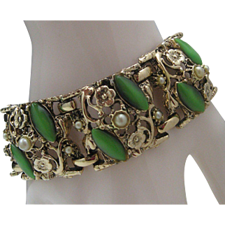 Green Mid Century Thermoplastic Bracelet