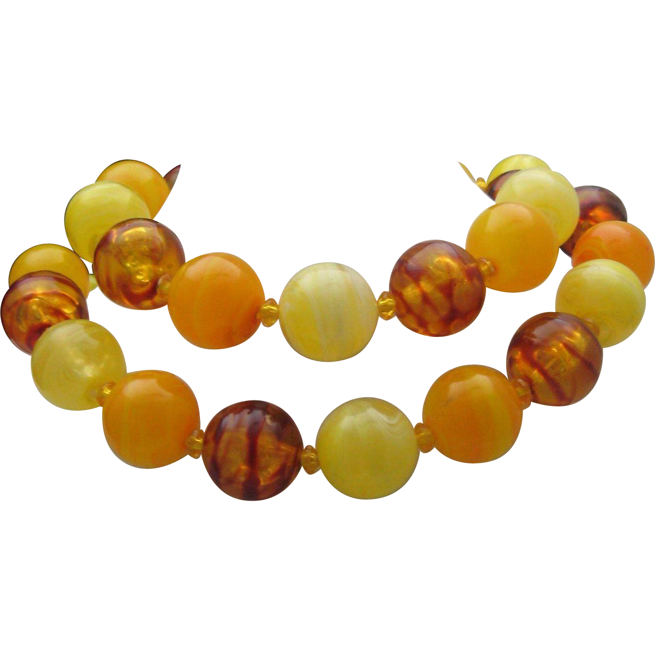 Big Bold Celluloid Necklace c1960