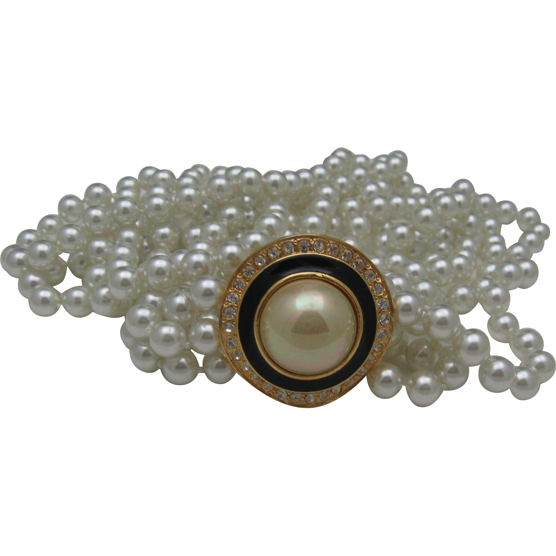 Coco Channel Style Pearl necklace 1980