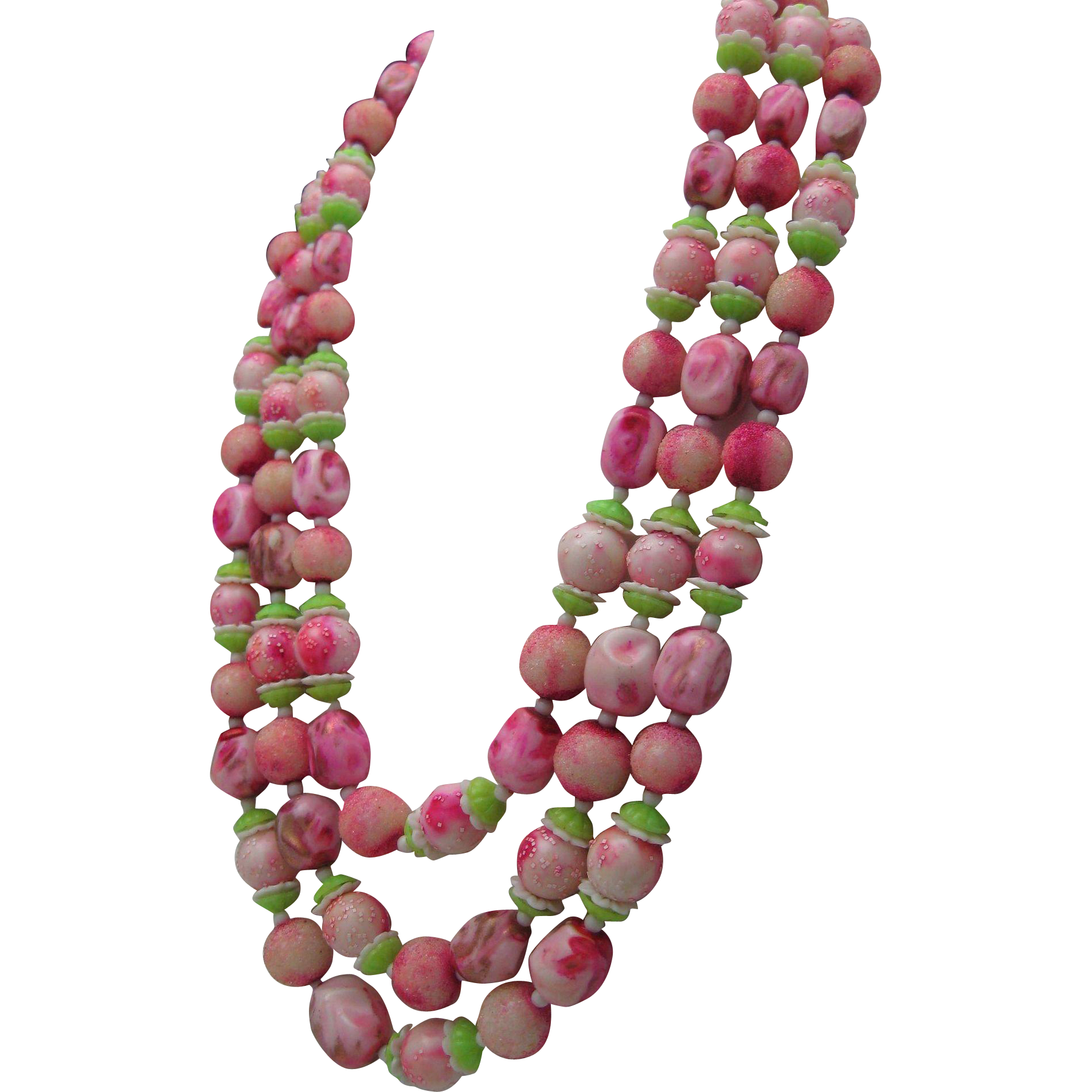 C1960 Cherry Apple Blossom Necklace