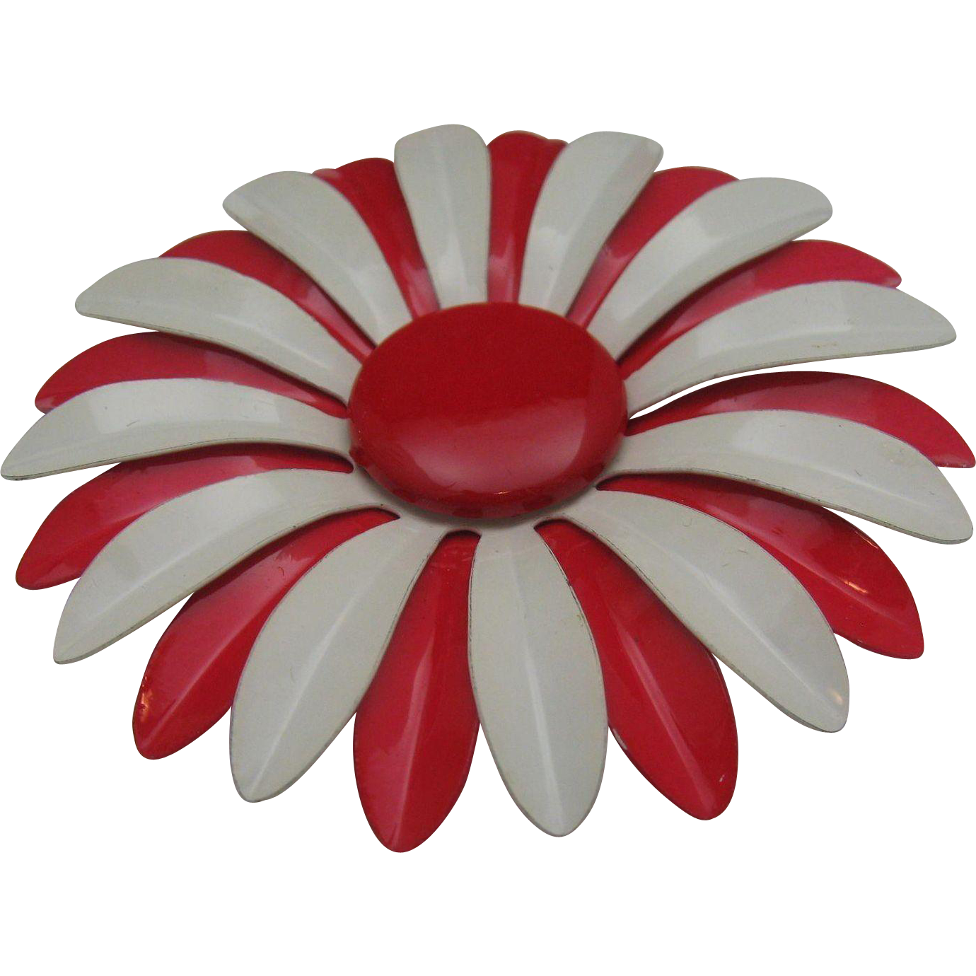Huge Metal Daisy 1960 3 inches