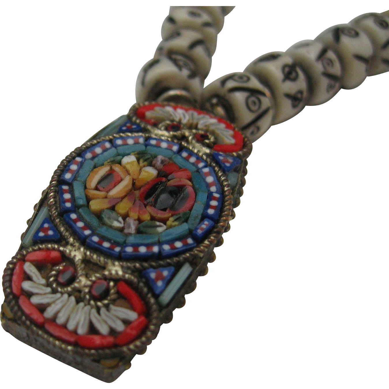Italian Mosaic Necklace Old and New