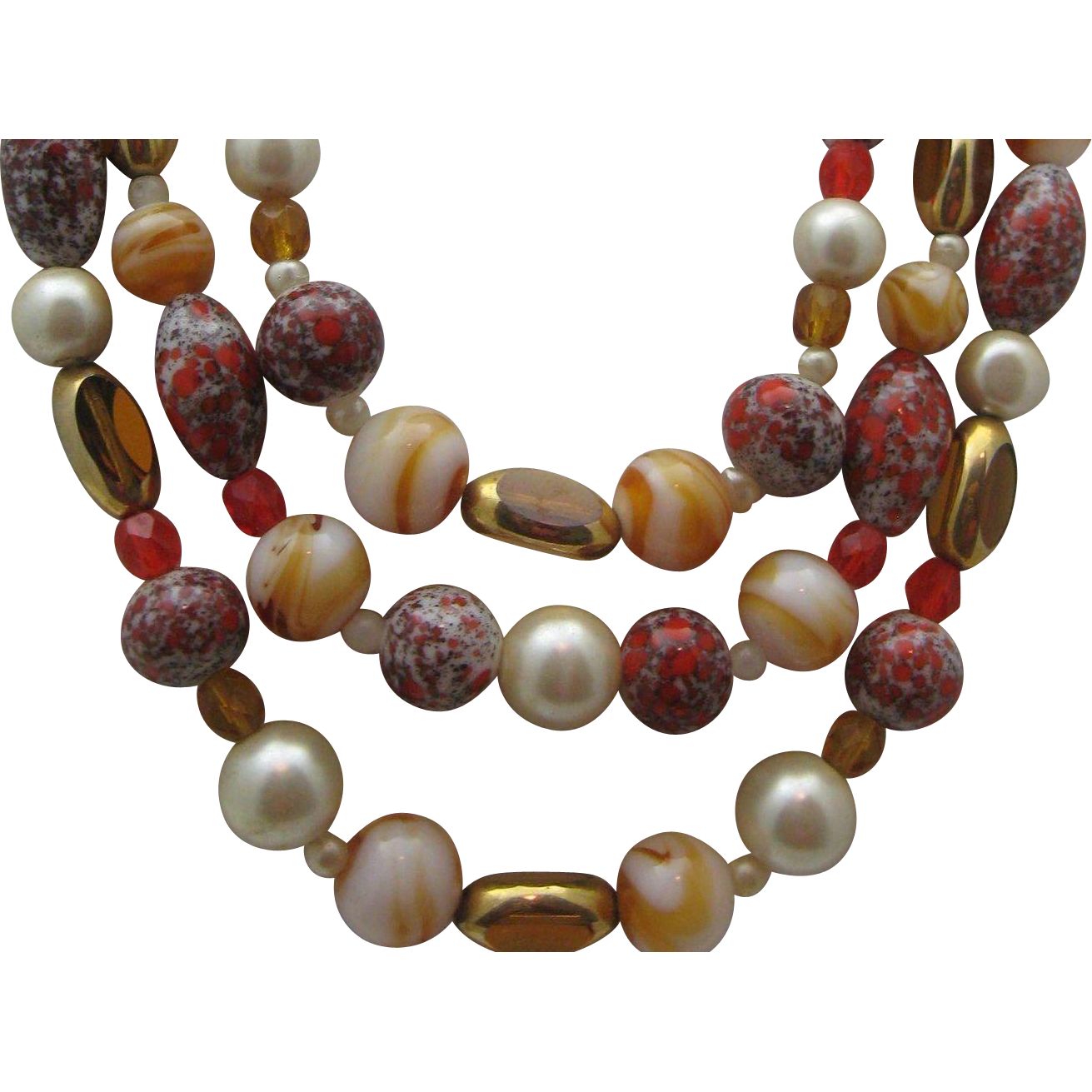 Art Glass Mid Century Necklace