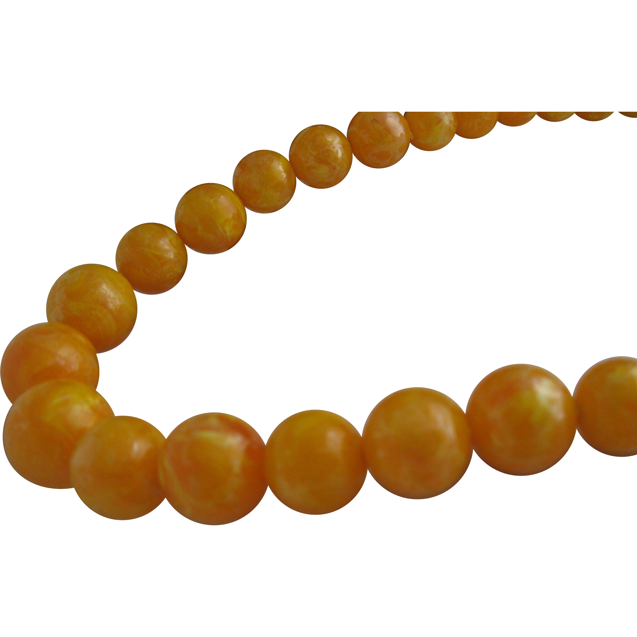 Cream Corn Celluloid Necklace 1960