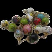 Art Glass Cloisonne Necklace