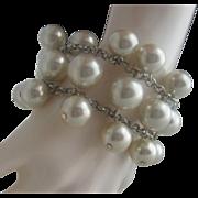 Pearl Bubbles Charm style Bracelet 1980
