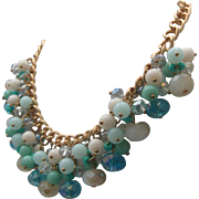 Frosted Turquoise Crystal Necklace