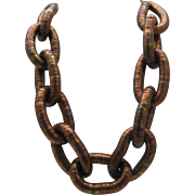 Egyptian Style Coiled Copper Necklace 1960