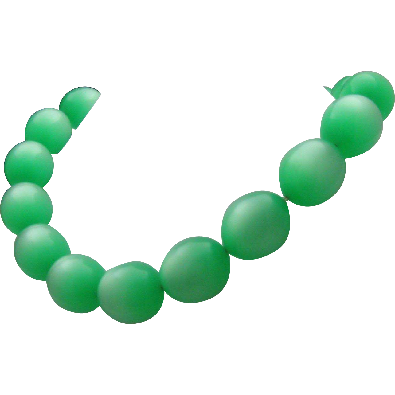 Green MoonGlow Plastic Necklace 1960