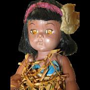 Traditional Hawaiian Doll Grass Skirt