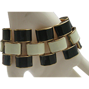 Enameled Tire Tread Bracelet c1970 8 inches
