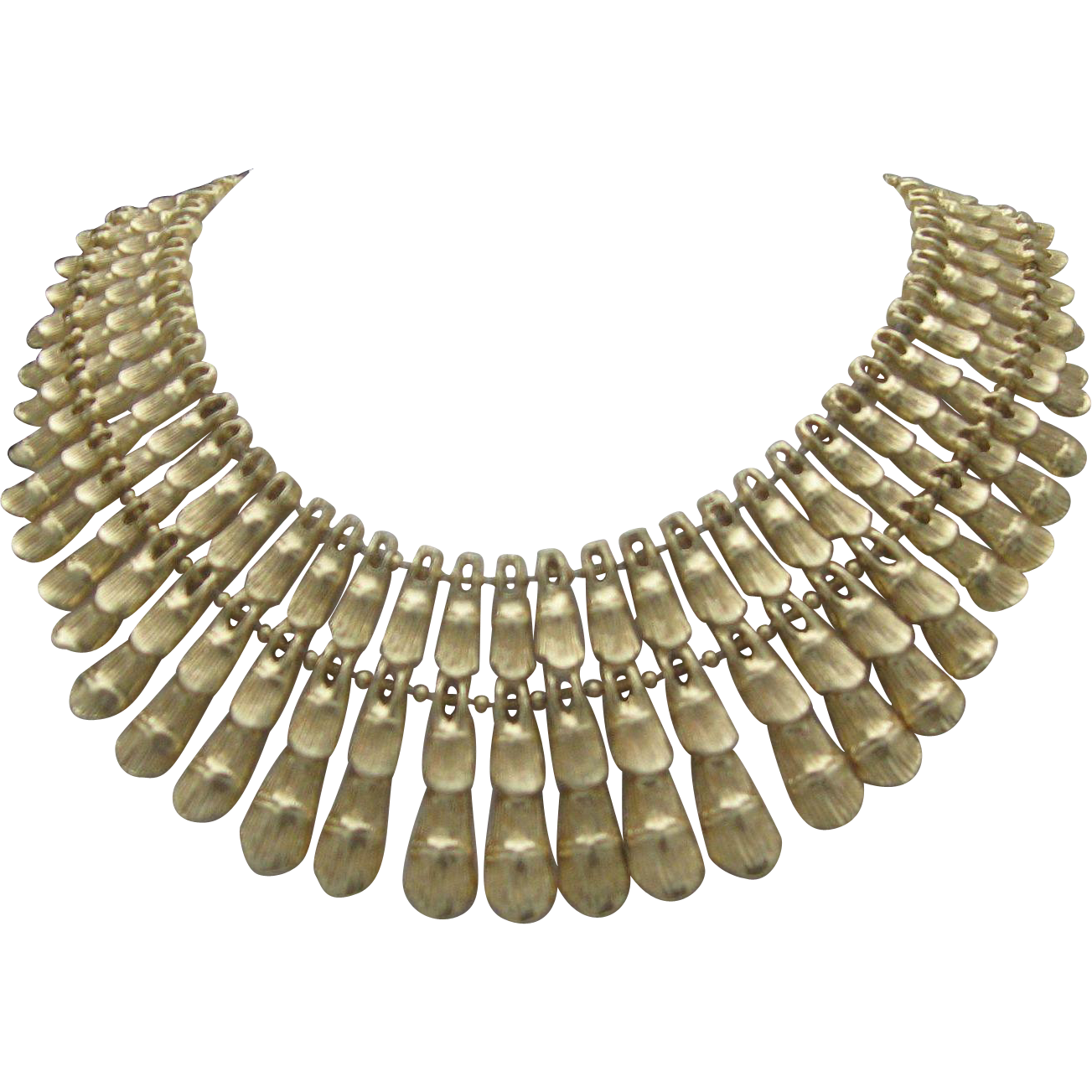 BSK Egyptian Collar Necklace Gold toned