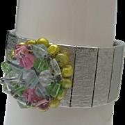 Pretty Mid Century Crystal Bracelet