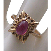 Russian Rubellite Tourmaline Ring size 8