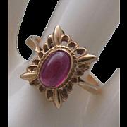Russian Rubellite Tourmaline Ring size 8