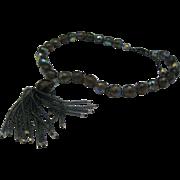KJL Kenneth Jay Lane Japanned Crystal Necklace