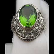 Unisex Alexandrite Ring 925 Sterling 8 1/2