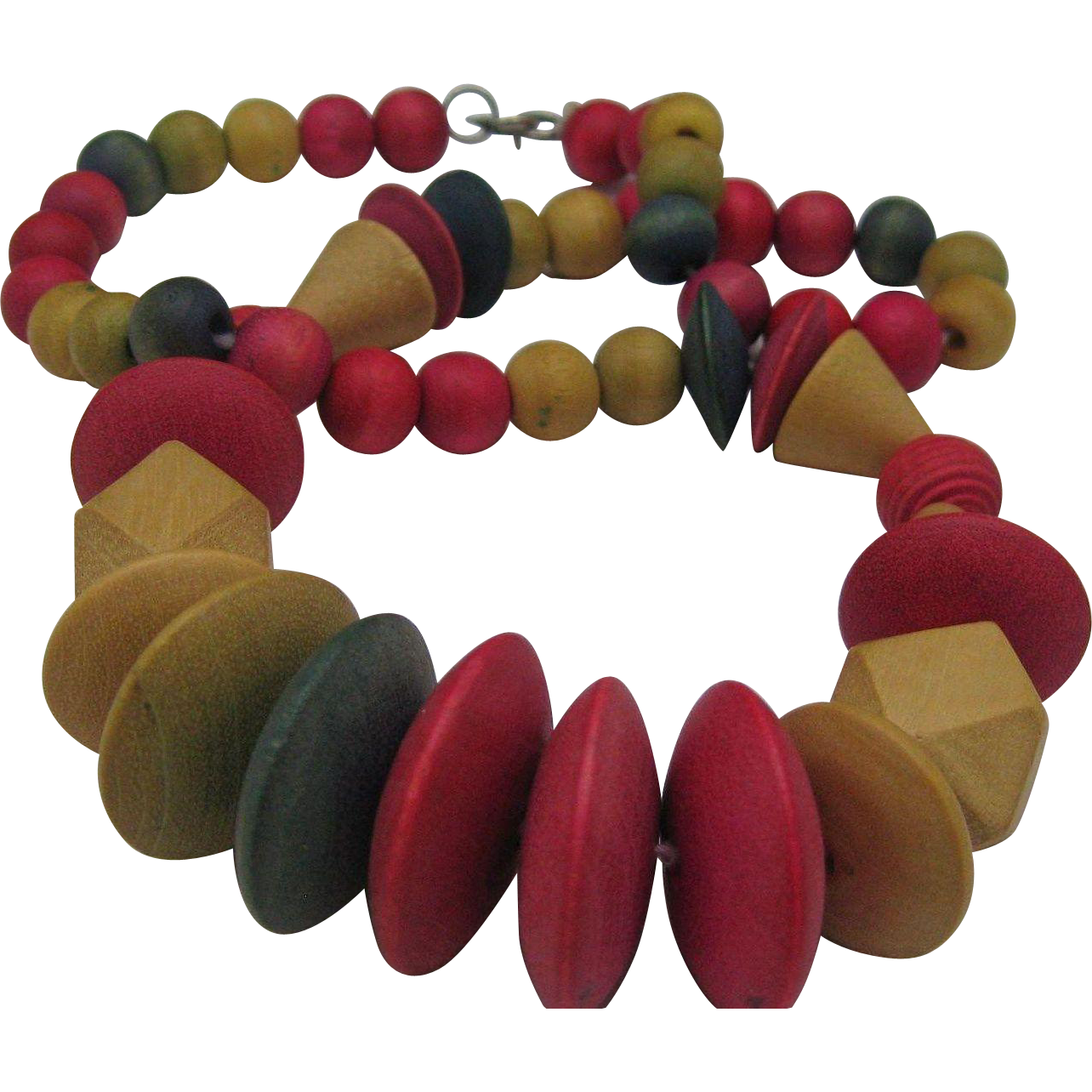 C1940 Wooden Colorful Necklace