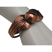 Beatnik Copper Hinged Bacelet 1950