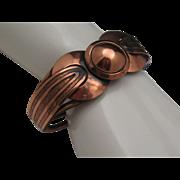Beatnik Copper Hinged Bacelet 1950
