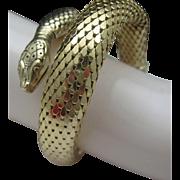 Golden Mesh Coiled Snake Bracelet