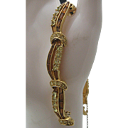 Marcel Boucher Topaz Pave Ribbon Bracelet 1955