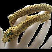 Coiled Mesh Snake Bracelet  Egyptian Style