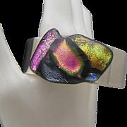Dichroic Rock Cuff Bracelet