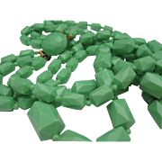 Celluloid 3 Strand Necklace 1950