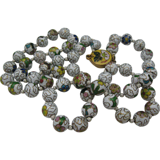 Cloisonne Necklace Chinese Export 1930