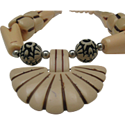 Art Deco French Ivory Necklace