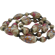 At Deco Cream Venetian Wedding Cake Beads c1930