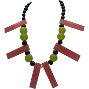 Spaced Out Lucite necklace c1960