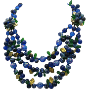 West Germany Jewel Tone Necklace 1950